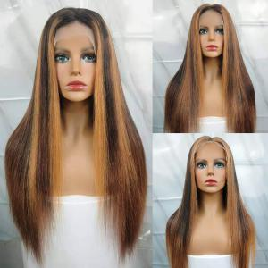 Highlight #27 Color Straight Lace Front Wigs Three Different Ombre Lace Wigs For Women