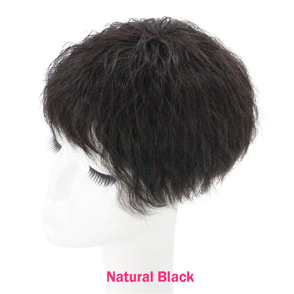 Human Hair Natural Curly Topper Replacement Crown Hairpiece Clip in Top Wiglet for Women 2