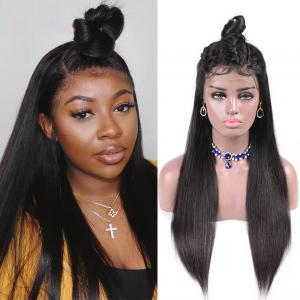 Human Hair Straight 250% Density Lace Front Wigs With Baby Hair For Women 8-22Inch
