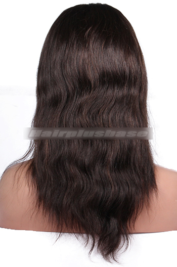 12 Inch #2 with #4 Highlights Natural Straight Indian Remy Hair Clearance Full Lace Wigs