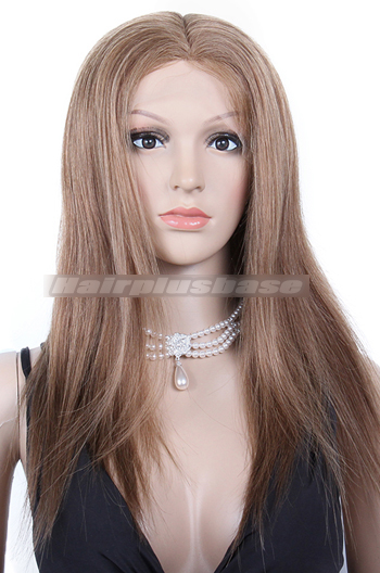 Silky Straight Dark Blonde Indian Remy Hair Full Lace Wigs {Custom Wig Production Time 30 days}