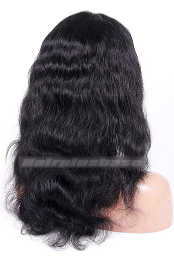 1B# 16inches Indian Remy Hair Middle Part Natural Wave Natural Looking Glueless Lace Part Lace Wigs