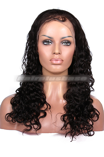 Brazilian Curl Indian Remy Human Hair Glueless Full Lace Wigs