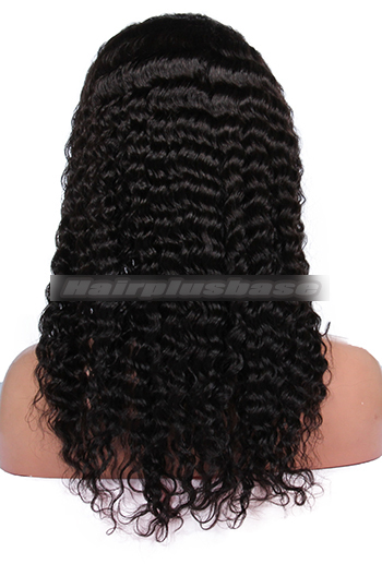 Deep Wave Indian Remy Human Hair Glueless Full Lace Wigs