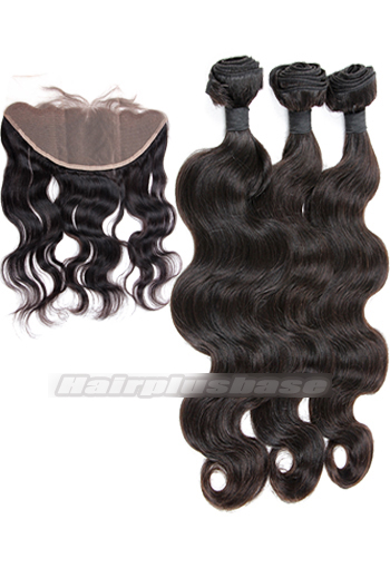 Body Wave 6A Virgin Hair A Lace Frontal With 3 Bundles Deal