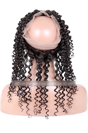 Candy Curl Indian Virgin Hair 360°Circular Lace Frontal