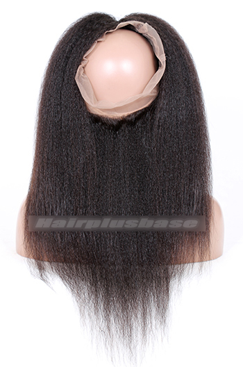 Indian Virgin Hair 360°Circular Lace Frontal Kinky Straight