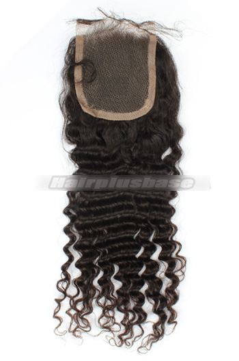 Deep Wave Indian Virgin Hair Lace Closure 4*4 Inch