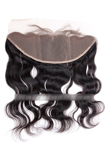 13x4 Inch Body Wave Indian Virgin Hair Lace Frontal