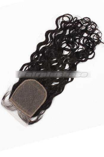 Loose Curl Indian Virgin Hair Silk Base Closure