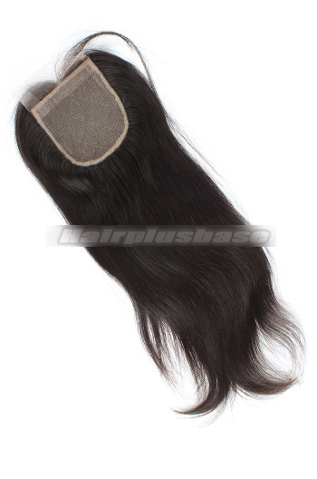 Silky Straight Indian Virgin Hair Silk Base Closure 4x4 Inch