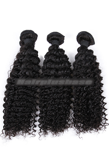 10-26 Inch Deep Wavy Indian Virgin Human Hair Weft 3 Bundles