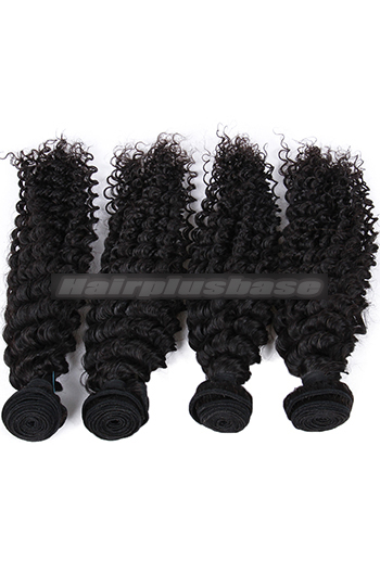 10-26 Inch 4 Bundles Deep Wavy Indian Virgin Human Hair Weft