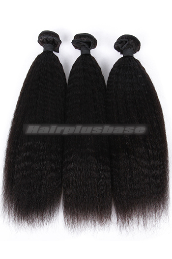 10-28 Inch Kinky Straight Indian Virgin Hair Weaves 3 Bundles Deal