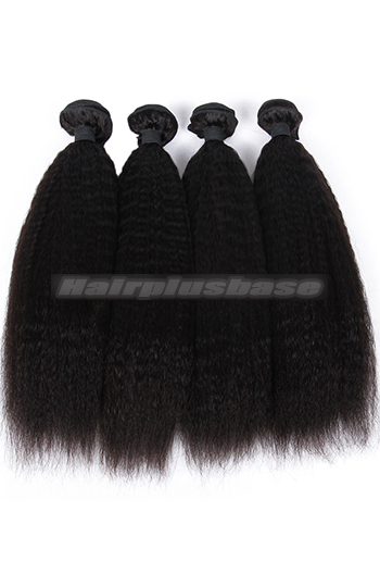 10-26 Inch Kinky Straight Indian Virgin Hair Weaves 4 Bundles Deal