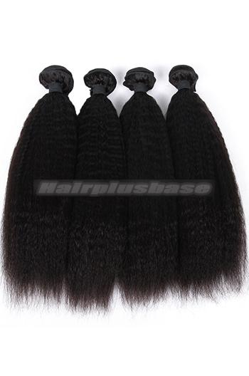 10-26 Inch Kinky Straight Indian Virgin Hair Weaves 4 Bundles Deal