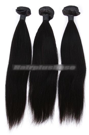 10-28 Inch Silky Straight Indian Virgin Hair Weaves 3 Bundles Deal