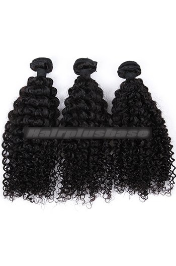 10-26 Inch Water Wave Indian Virgin Human Hair Weaves 3 Hair Bundles Deal