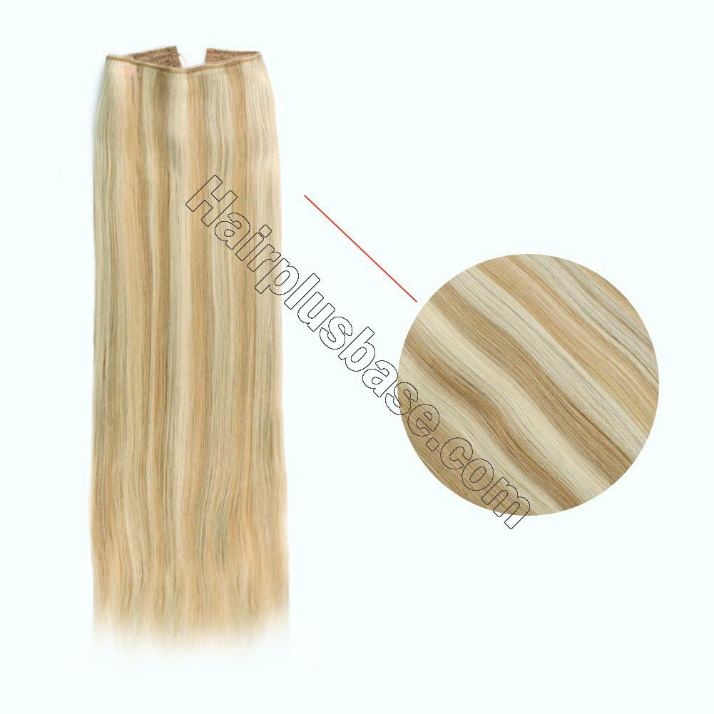Invisible Halo Human Hair Extensions #12/613 Body Wave/Straight 3