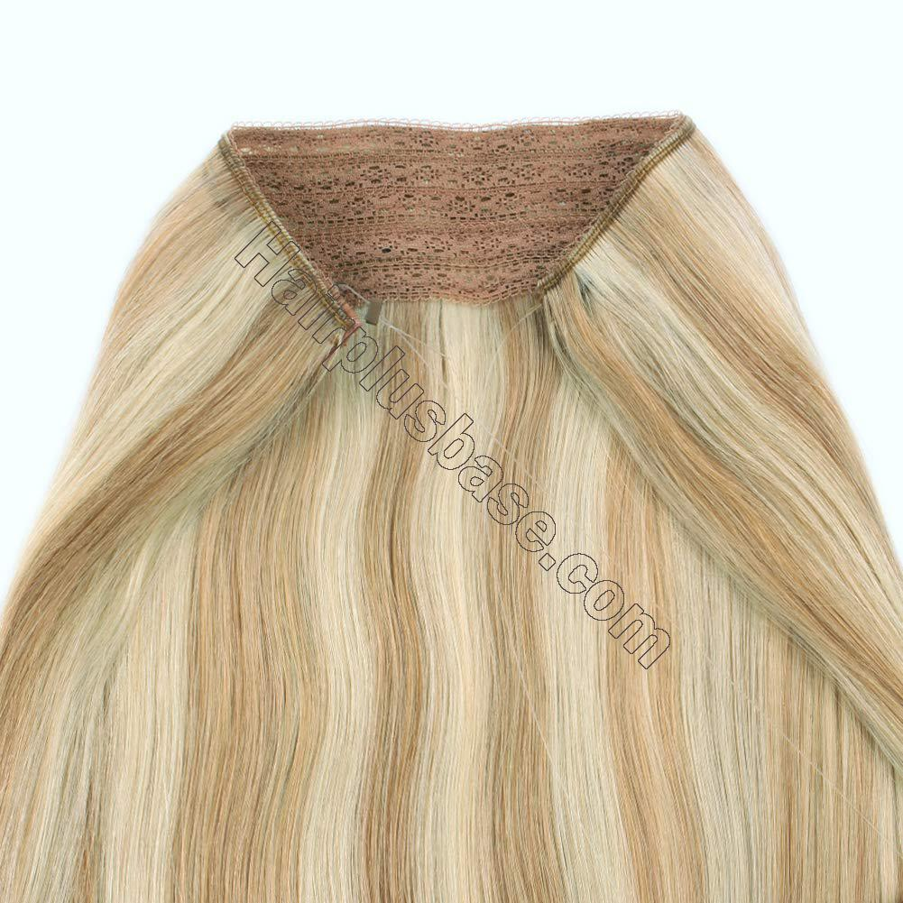 Invisible Halo Human Hair Extensions #12/613 Body Wave/Straight 4