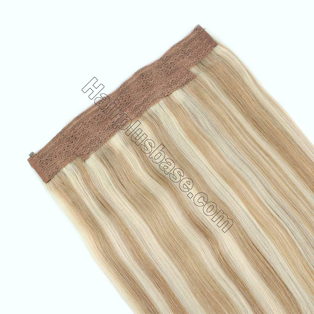 Invisible Halo Human Hair Extensions #12/613 Body Wave/Straight 5