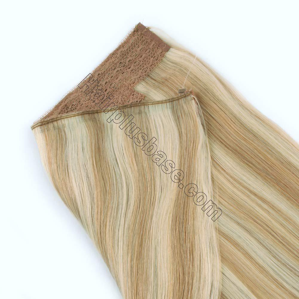 Invisible Halo Human Hair Extensions #12/613 Body Wave/Straight 6