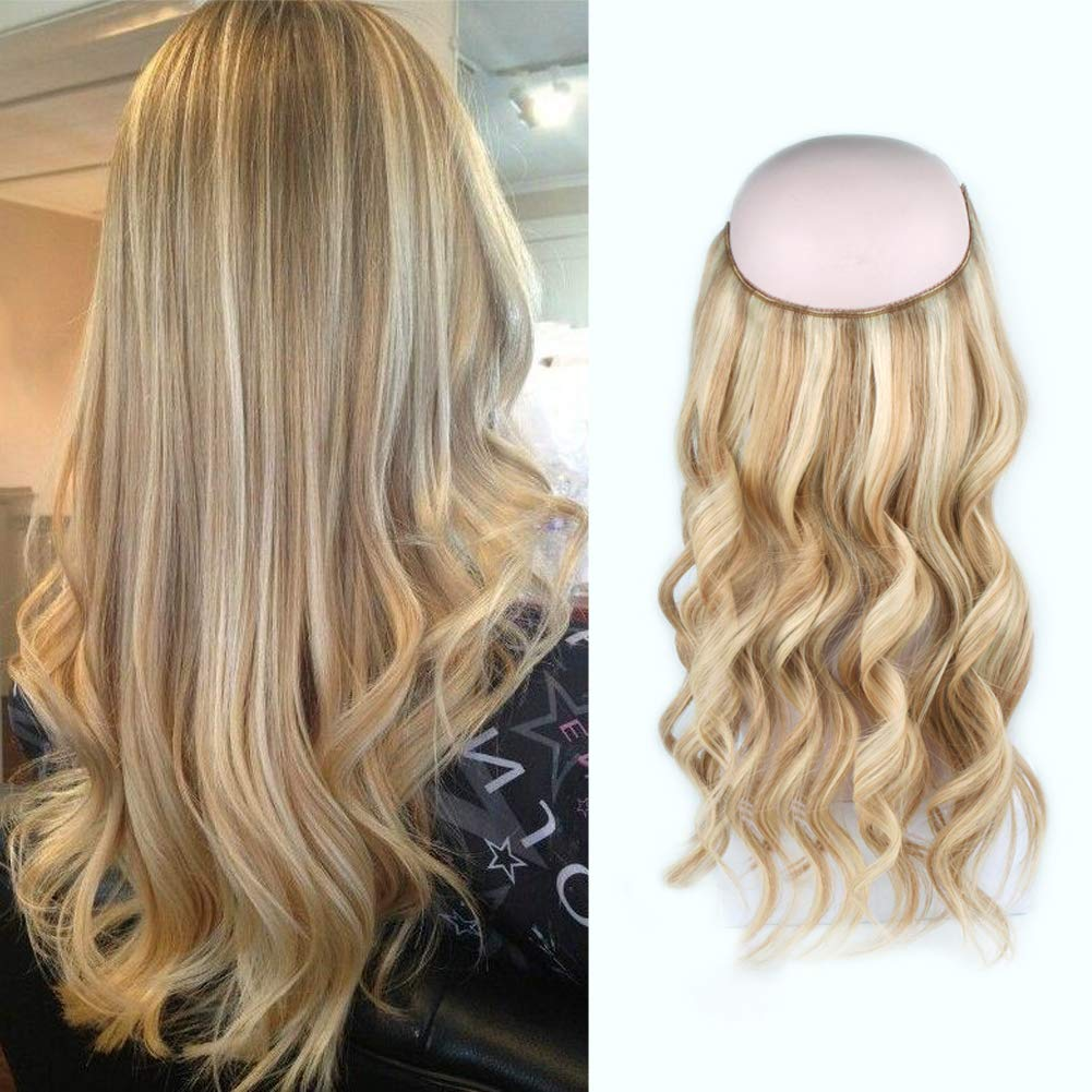 Invisible Halo Human Hair Extensions #12/613 Body Wave/Straight 9