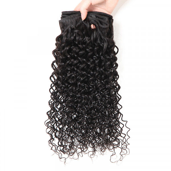 Kinky Curly 3 Bundles Malaysian Curly Hair Virgin Hair Bundles 4