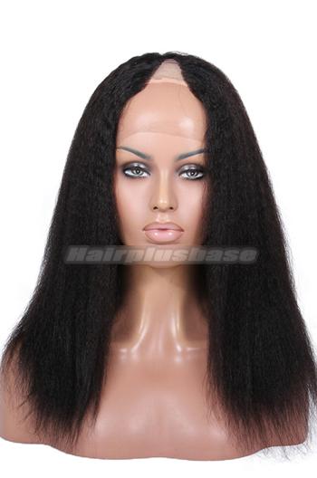 Kinky Straight Brazilian Virgin Hair U Part Wigs