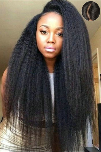 Indian Remy Hair Kinky Straight Lace Front Wigs{Custom Wig Production Time 7-10 working days}
