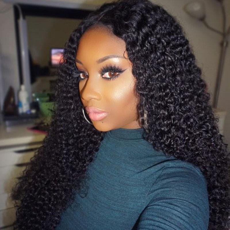 Lace Front Wigs Brazilian Virgin Human Hair Water Wave 0