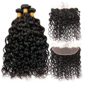 Lace Frontal With 3 Bundles Natural Wave Weave Brazilian Virgin Hair