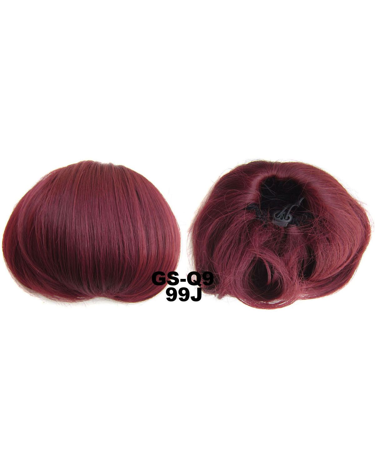 Ladies Elaborate and Hot-sale Curly and Short Hair Buns Drawstring Synthetic Hair Extension Bride Scrunchies  99J