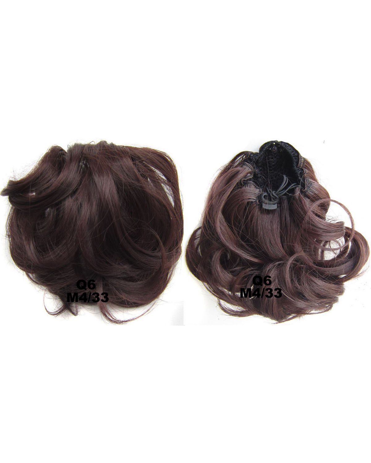Ladies Fashional and Popular  Curly and Short Hair Buns Drawstring Synthetic Hair Extension Bride Scrunchies M4/33