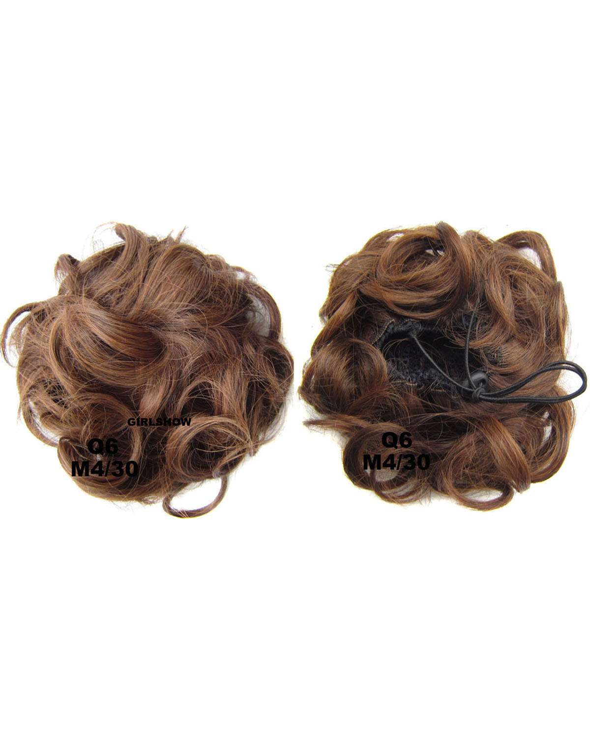 Ladies Fresh and High Quality Curly and Short Hair Buns Drawstring Synthetic Hair Extension Bride Scrunchies M4/30
