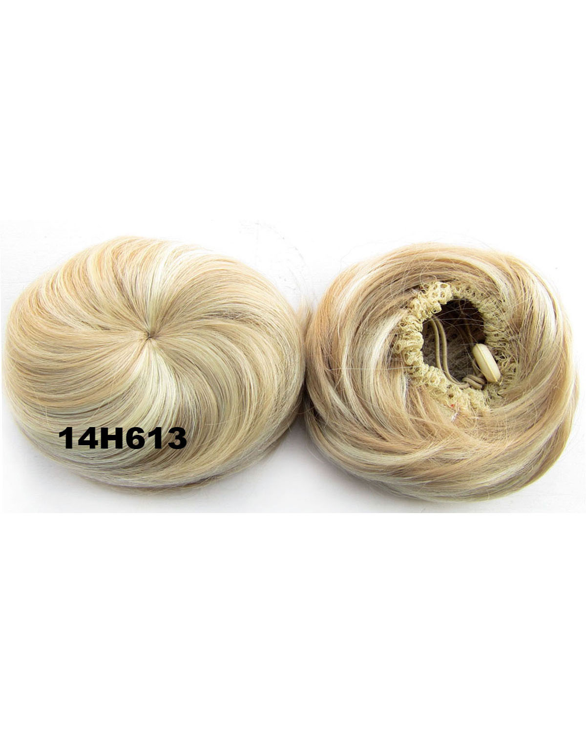 Ladies Fresh Straight Short Hair Buns Drawstring Synthetic Hair Extension Bride Scrunchies14H613