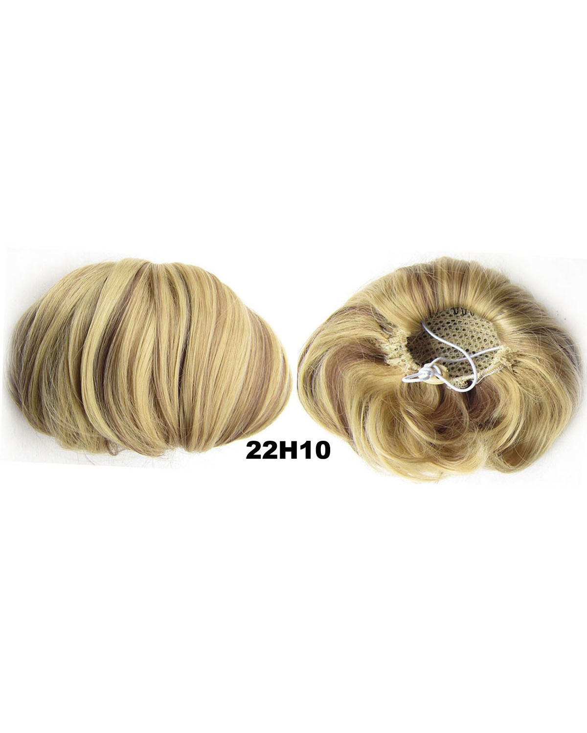 Ladies Good Quality Straight Short Hair Buns Drawstring Synthetic Hair Extension Bride Scrunchies 22H10