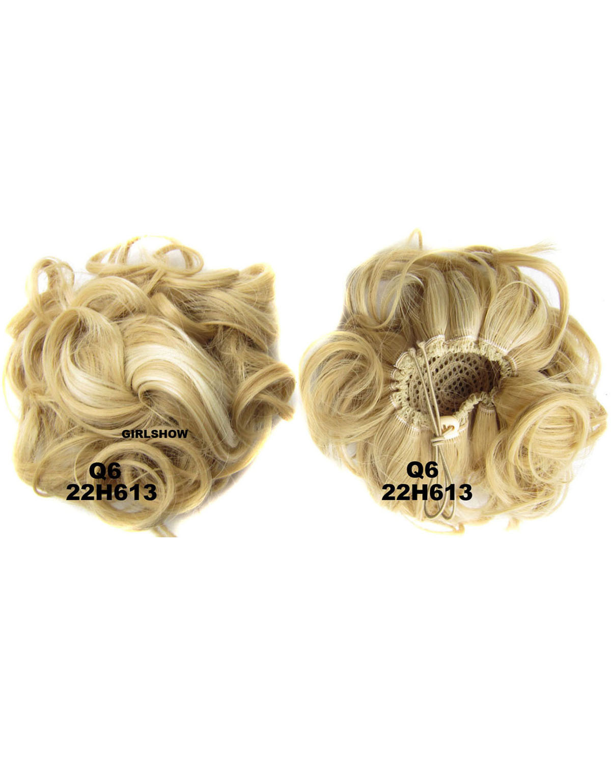 Ladies Great and Clean Curly and Short Hair Buns Drawstring Synthetic Hair Extension Bride Scrunchies 22H613