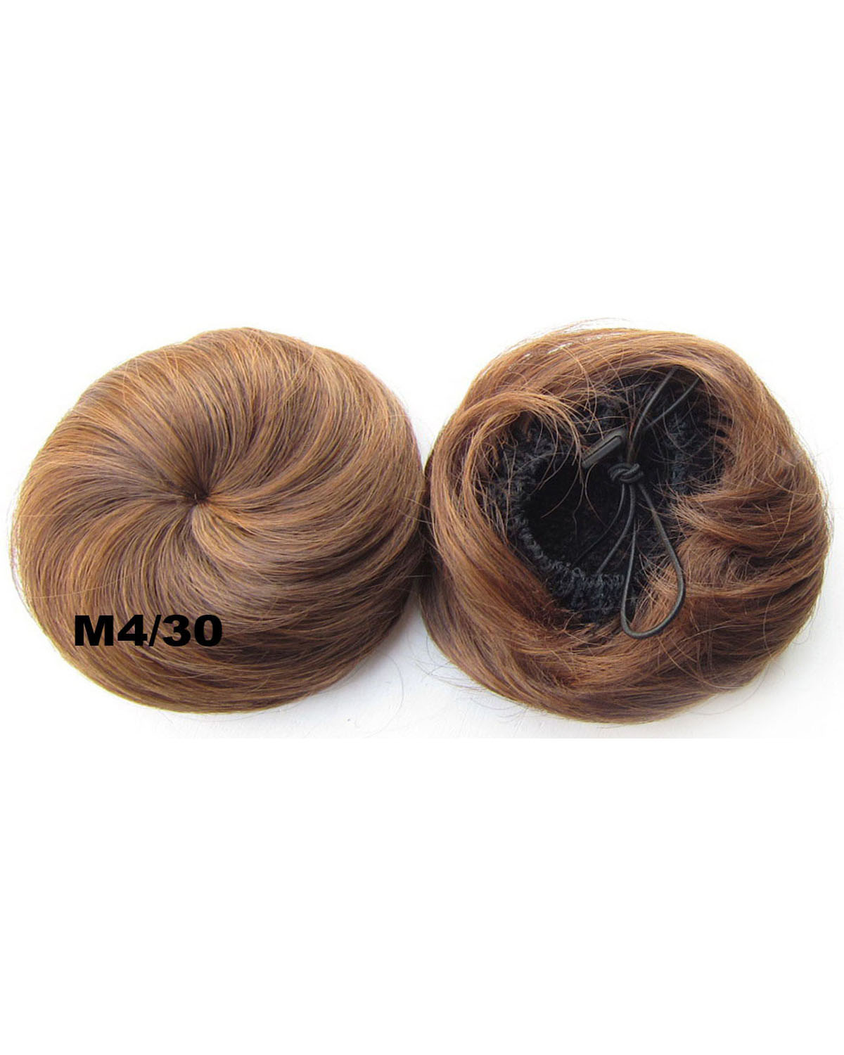 Ladies High-class Straight Short Hair Buns Drawstring Synthetic Hair Extension Bride Scrunchies M4/30