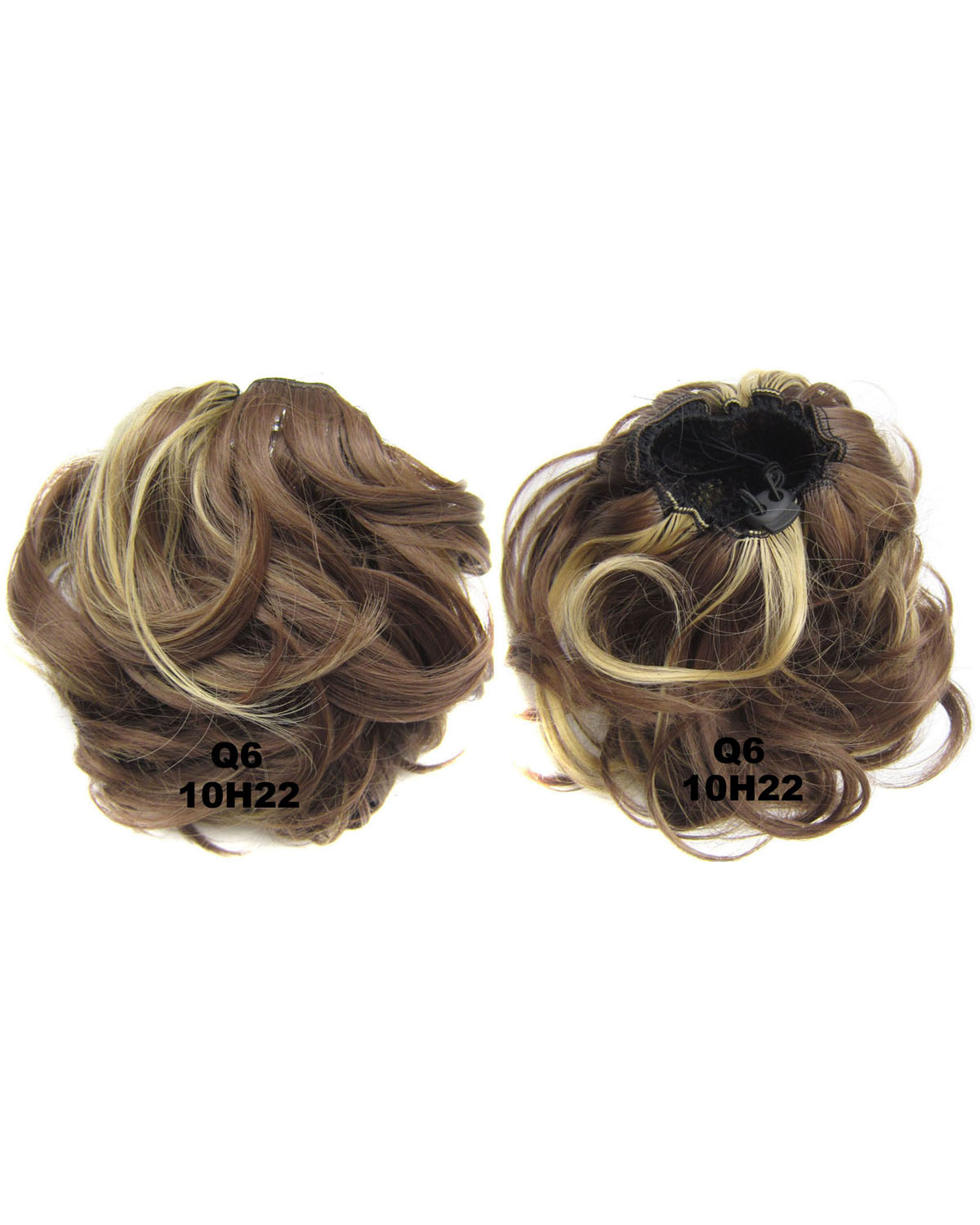 Ladies Hot-sale and Great Quality Curly and Short Hair Buns Drawstring Synthetic Hair Extension Bride Scrunchies  10H22