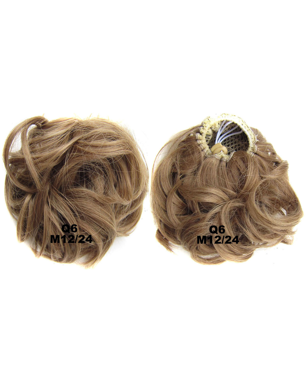 Ladies Newly Great Quality Curly and Short Hair Buns Drawstring Synthetic Hair Extension Bride Scrunchies M12/24