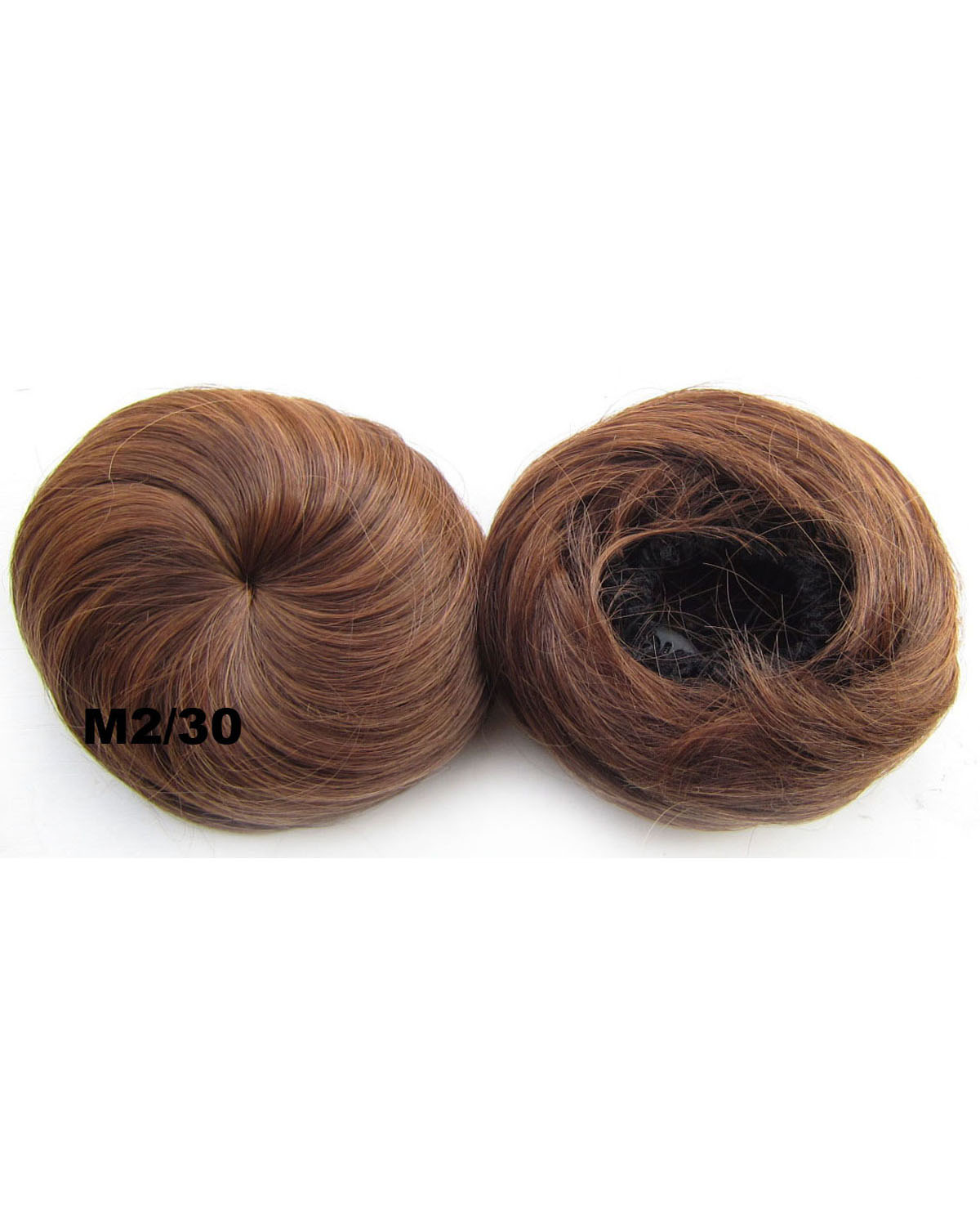 Ladies Silky Straight Short Hair Buns Drawstring Synthetic Hair Extension Bride Scrunchies  M2/30
