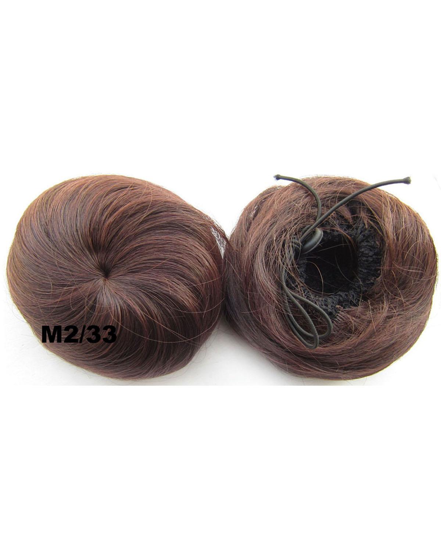 Ladies Vibrant Straight Short Hair Buns Drawstring Synthetic Hair Extension Bride Scrunchies M2/33