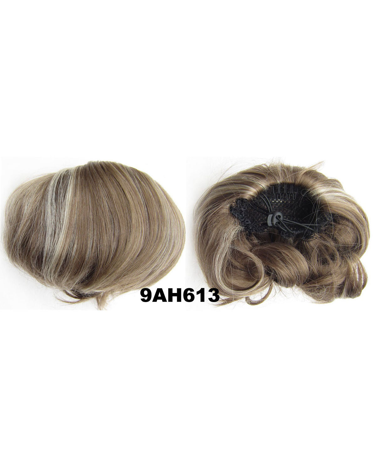 Ladies Vivid Straight Short Hair Buns Drawstring Synthetic Hair Extension Bride Scrunchies 9AH613