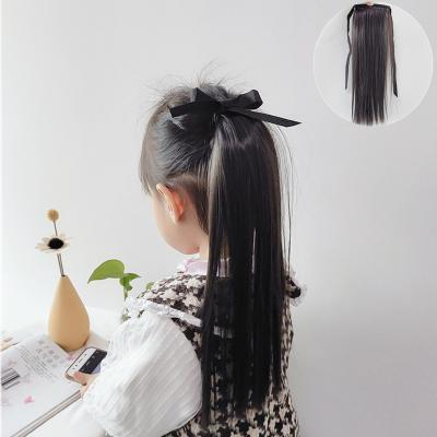 Little Girl Lace/Ribbon Ponytail Extension Human Hair