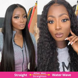 Loose Curl Human Hair Lace Front Wigs With Baby Hair Free Shipping