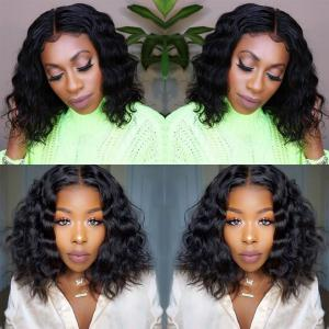 Loose deep 150% 180% Density Bob Lace Front Human Hair Wigs