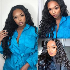 Loose Deep 4*4 Lace Closure Wigs 180% Density For a Full Head