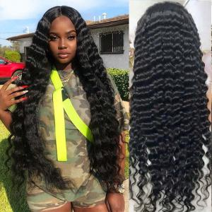 Loose Deep Long 13*6 Lace Front Wigs Human Hair 24-40Inch With 6' Deep Part