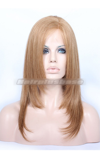 Lovely Layered Haircut Chinese Virgin Hair Blonde Full Lace Wigs
